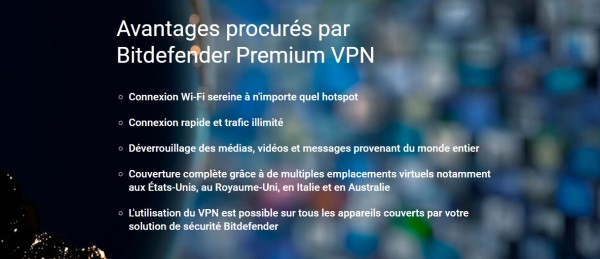 Offre VPN gratuit de Bitdefender avec Total Security 2020